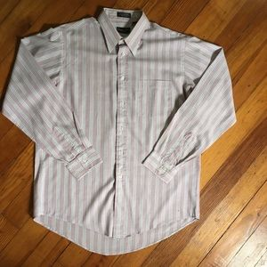 CHRISTIAN DIOR Stripe Button Down Dress Shirt EUC